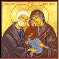 St Joachim and St Anne give thanks for their newly born daughter, Our Blessed Lady