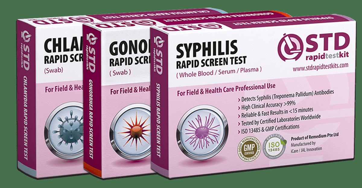 Chlamydia + Gonorrhea + Syphilis Rapid Test Kit