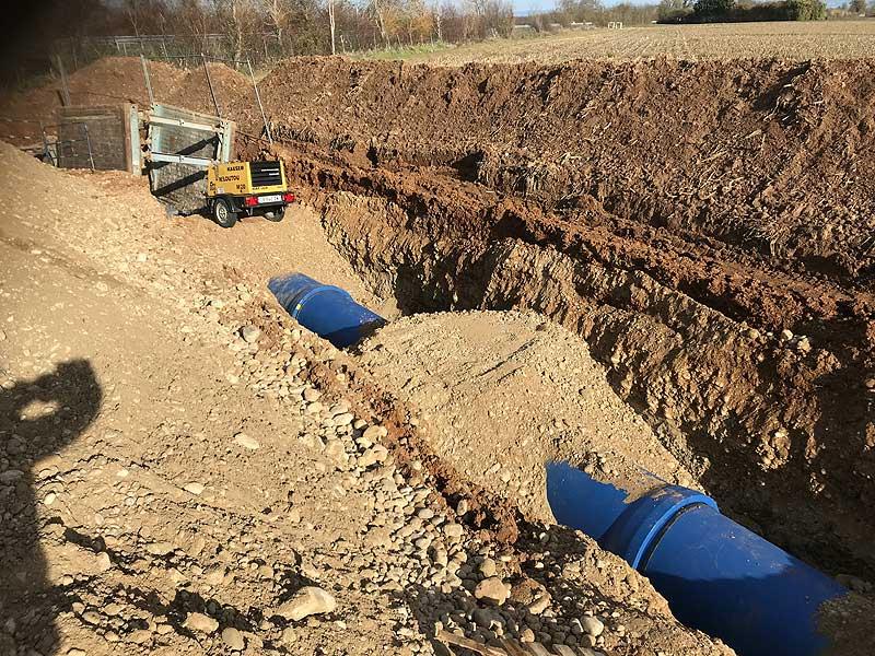 Conduite d'irrigation DN 1000