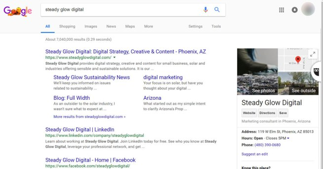 What do people see when they search for your business listing?