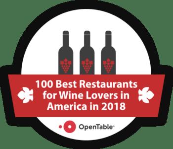 100 Best Restaurants for Wine Lovers in America 2018