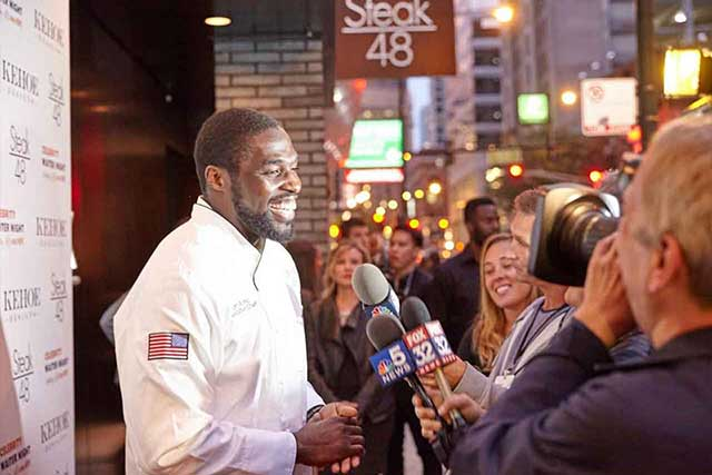 Sam Ocho at Steak 48 Event