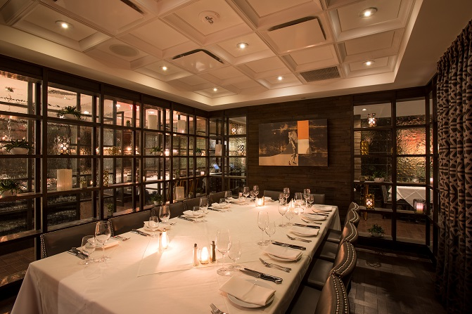 The Chef's Dining Room is an intimate space for up to 14 guests