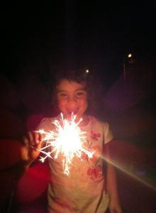 Dos loved her sparkler!
