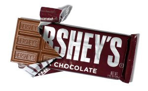 Grace like a Hershey's bar.
