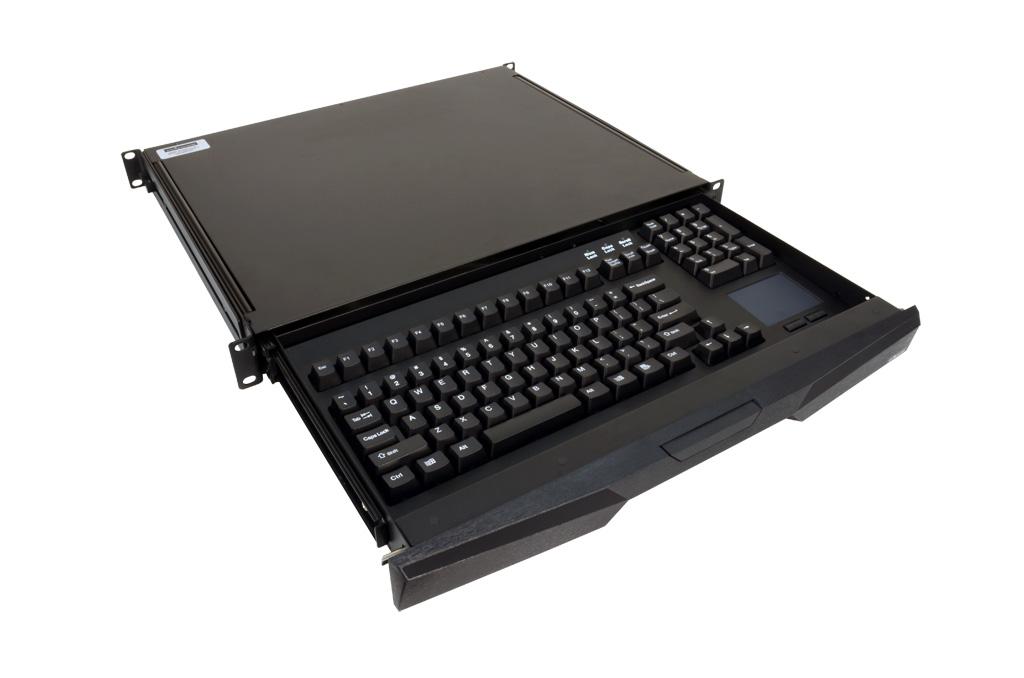 1u rackmount keyboard drawer stealth