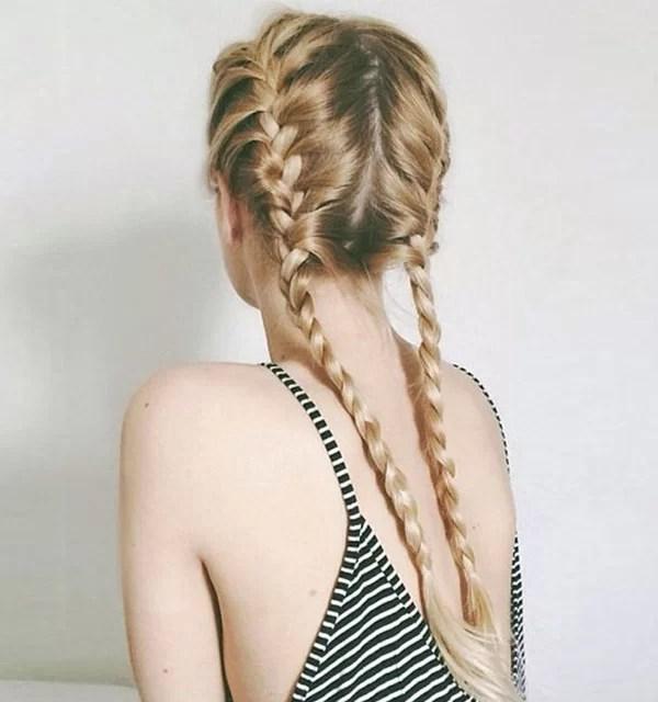 Trança Dupla Embutida Hair Style