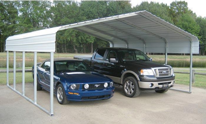 VersaTube Steel Shelter Carport 20 Ft X 20 Ft X 75 Ft 654424 Van AccessoriesHolders