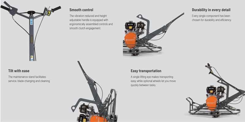 Husqvarna Bg479 F Qp Concrete Placement Power Trowel Honda