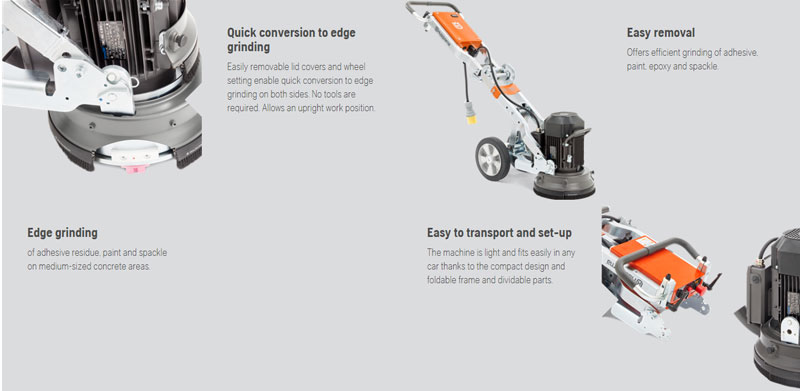 Husqvarna Pg 280 Cement Floor Grinder 3 Hp 11 Inches 230