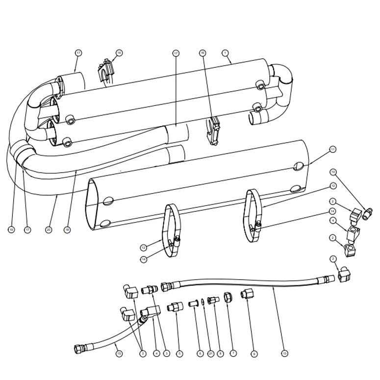 Hydramaster 000-038-026 Dual Heat Exchanger for 32