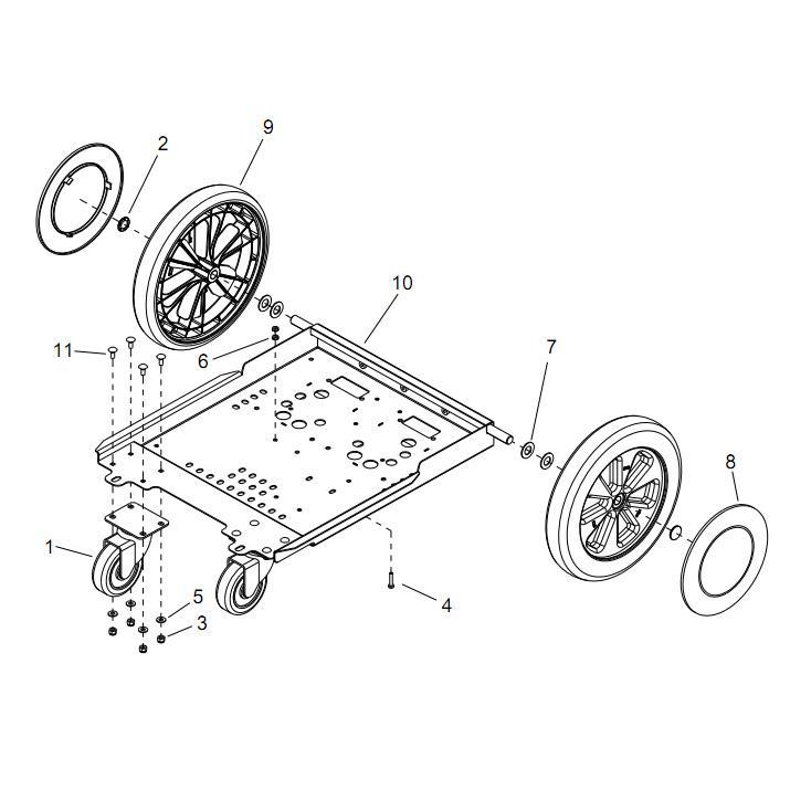 Century 400 12 Inch Rear Wheel for Ninja Warrior and