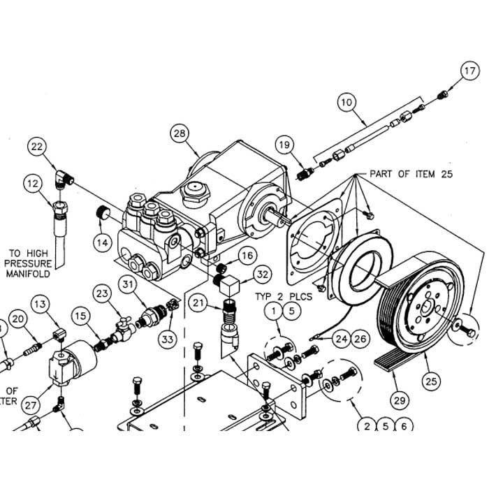 Cat Pump 56 3 Used On Prochem Performer 805 41-905046