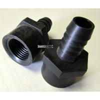 1 2 Fip X 1 2 Barbed Black Plastic Hose Fitting