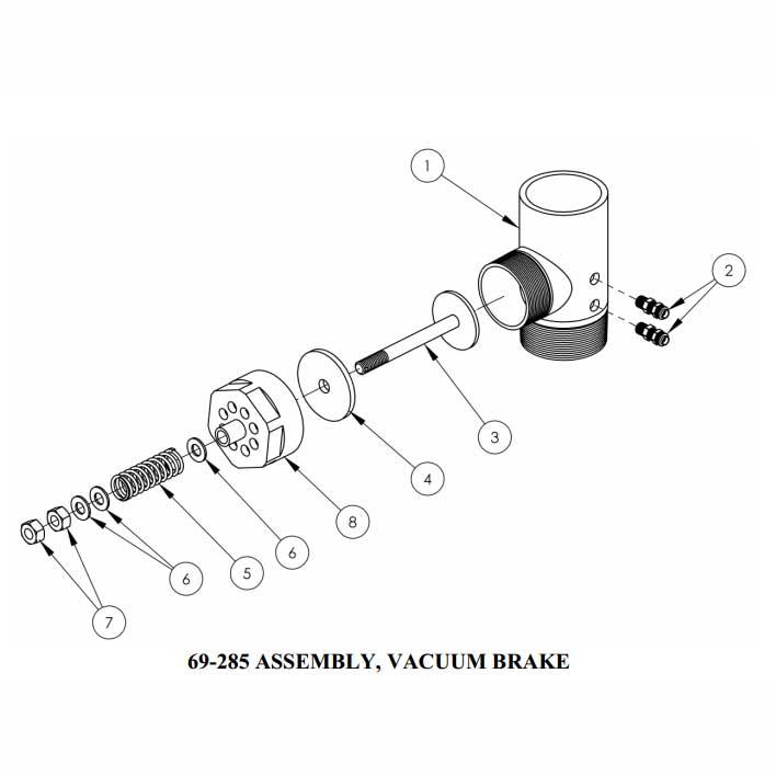 Sapphire Scientific Truckmount Vacuum Relief Valve Air