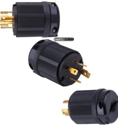 nema l14 30p generator twist lock plug 30 amp 4 wire black 125 250 volt l1430p l1430p electrical [ 936 x 936 Pixel ]