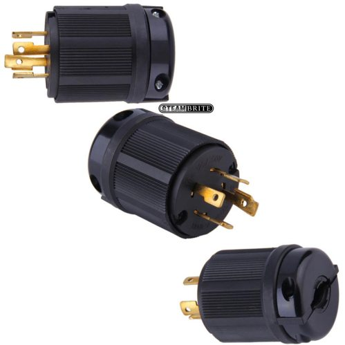 small resolution of nema l14 30p generator twist lock plug 30 amp 4 wire black 125 250 volt l1430p l1430p electrical