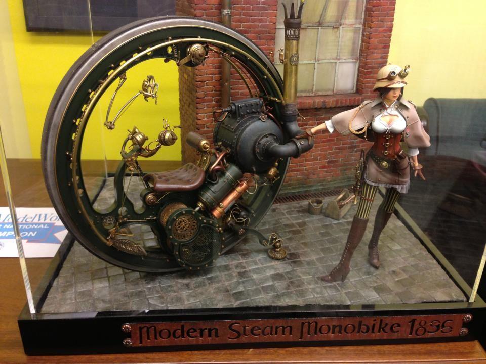 Modern Steam Motorbike
