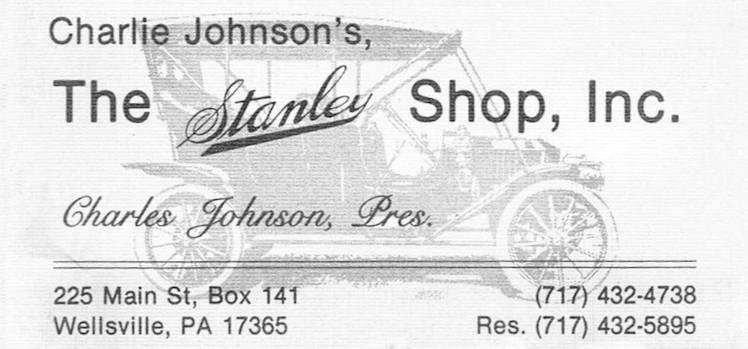 Steam Car Club suppliers list