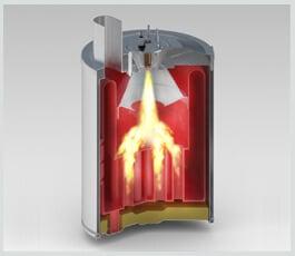 Sistema de calefacción de alta eficiencia