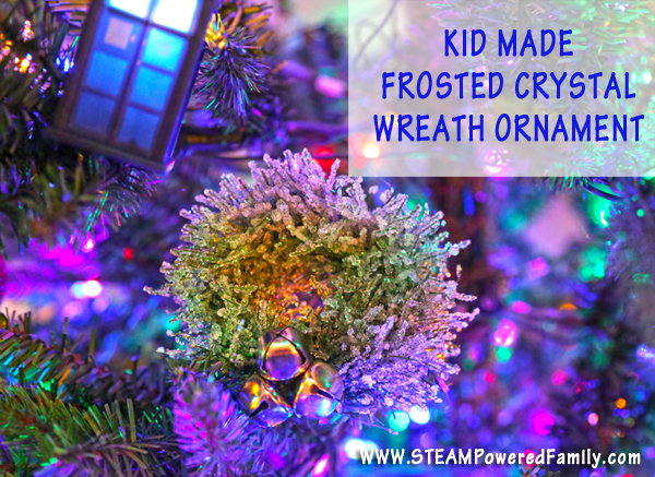kid made crystal wreath