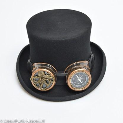 Steampunk Schweissbrille 128, antik goldfarben