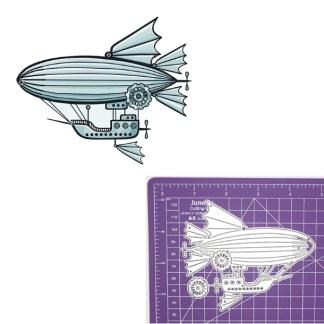 Steampunk Stanzschablone Zeppelin