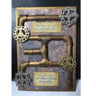 Steampunk Stanzschablone Rohre