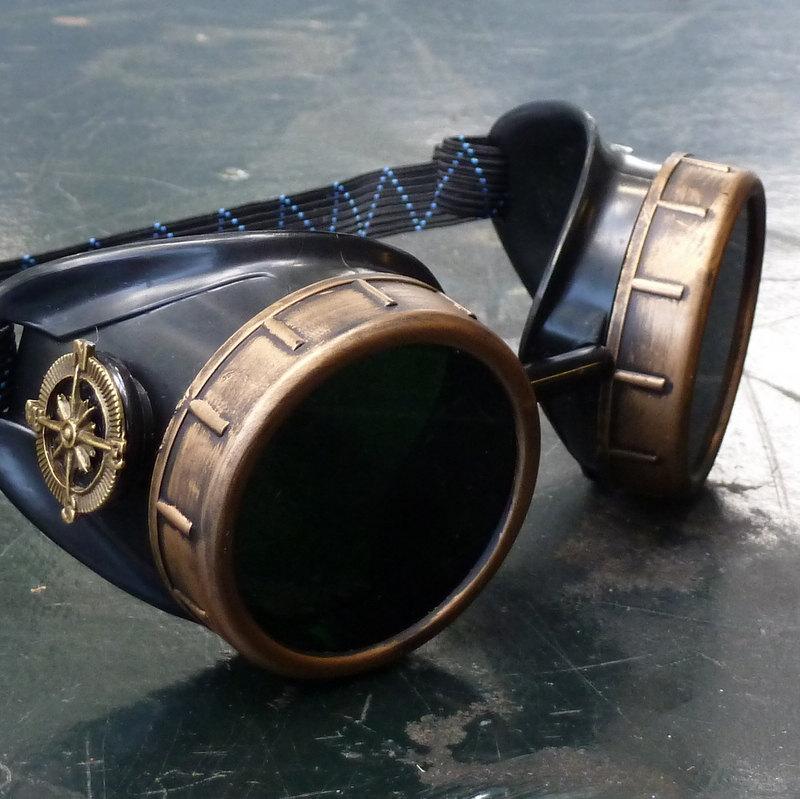 Underground Steampunk Navigator Goggles  the Coal Miner