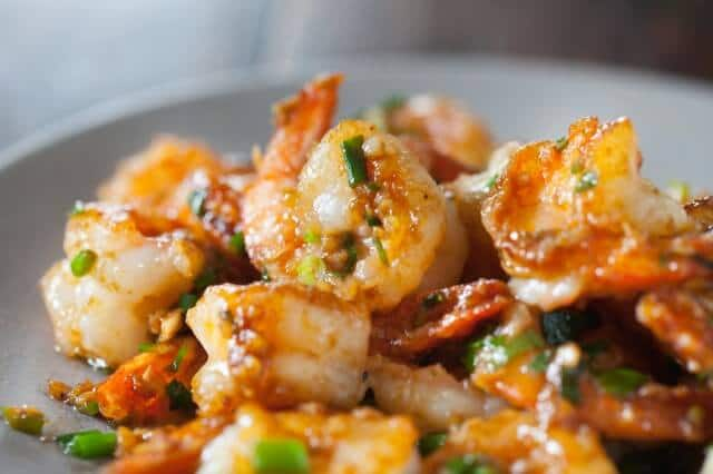 Garlic ginger shrimp stir fry recipe steamy kitchen