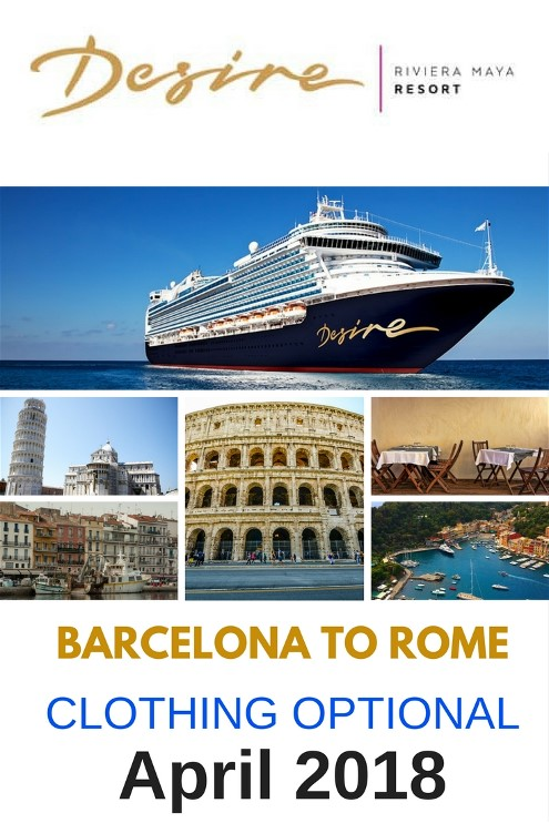 The 8 day Desire Barcelona to Rome cruise has so much to offer and see both on and off the ship. The vacation will consist of spicy adventures while enjoying the night life and day time activities on the ship.