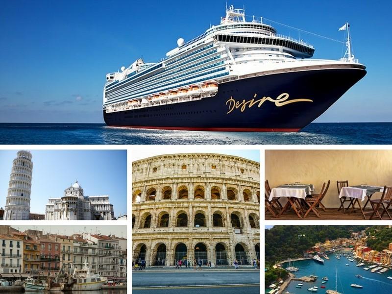 """Desire Cruise 2018. Join Desire on its """"Desire Experience"""" April 2018 Cruise from Barcelona to Rome. Imagine you and your partner enjoying an 8 day Mediterranean cruise featuring such amazing stops as Barcelona, Spain, Monte Carlo, Monaco and so much more."""