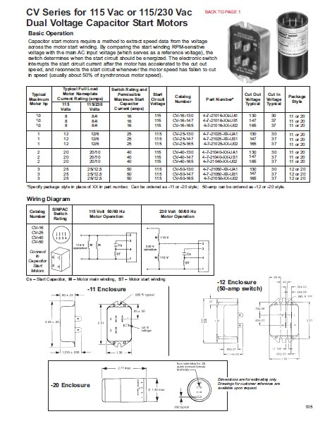 stearns brake wiring diagram jcb stearns-direct.com: products: solid state switches for single phase motors (sinpac): ...