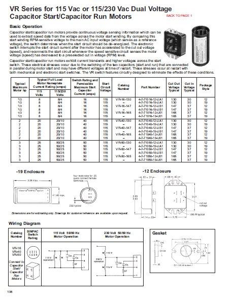 Wiring Diagram For Capacitor Start Capacitor Run Motor