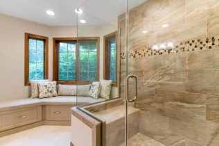 Large Master Bathroom Shower with enough room for built in bench