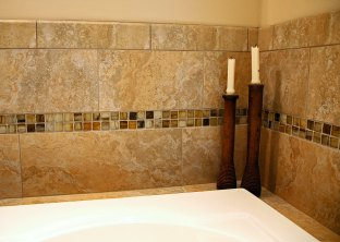 Master Bath with Soaking Tub in Delavan - tile-detail