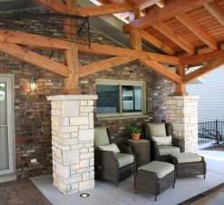 Outdoor Living Space Under Portico