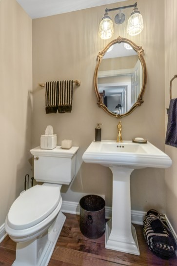 A clean and simple design for this small powder room space.