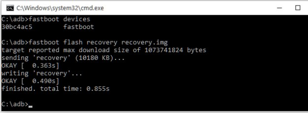fastboot recoveery