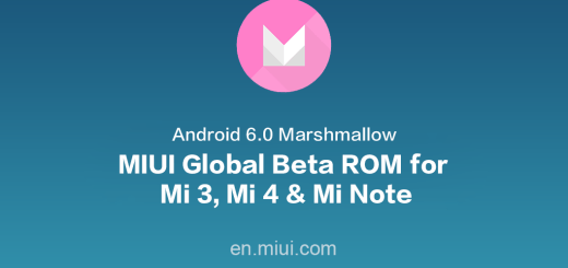 Download Marshmallow based MIUI Global Beta ROM for Mi 3/4 and Mi Note