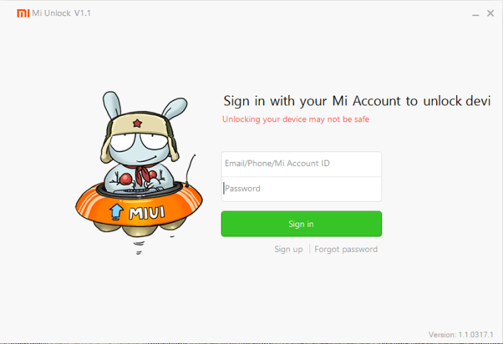 Download Mi Flash Unlock Tool