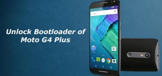 Unlock Bootloader of Moto G4 Plus