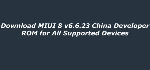MIUI 8 6.6.23 China Developer ROM for All Supported Devices