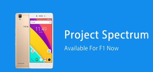 Project Spectrum ROM for Oppo F1