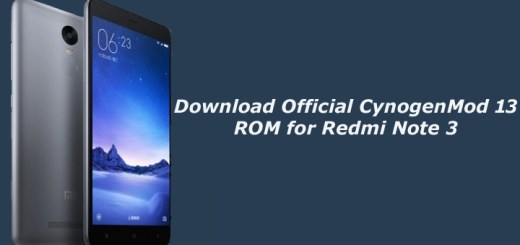 Download Official CynogenMod 13 ROM for Redmi Note 3