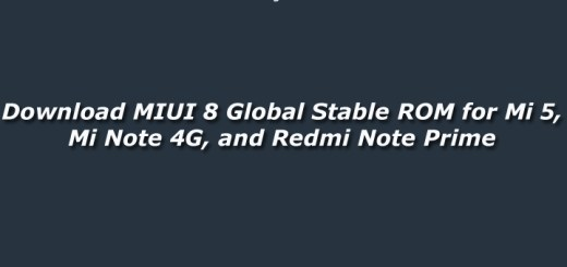 Download MIUI 8 Global Stable ROM for Mi 5, Mi Note 4G, and Redmi Note Prime