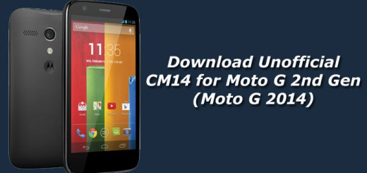 Download Unofficial CM14 for Moto G 2nd Gen (Moto G 2014)