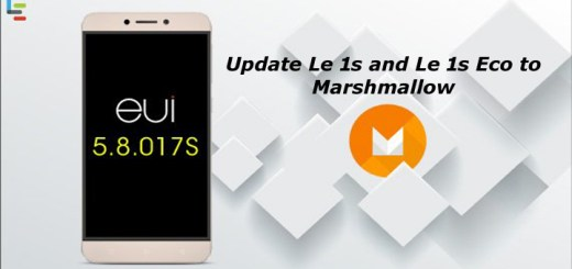 Update LeEco Le 1s and Le 1s Eco to Marshmallow