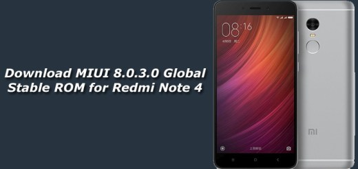 Download MIUI 8.0.3.0 Global Stable ROM for Redmi Note 4