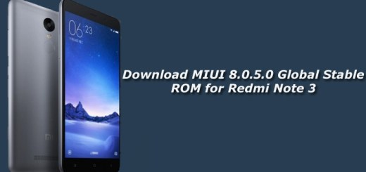 Download MIUI 8.0.5.0 Global Stable ROM for Redmi Note 3